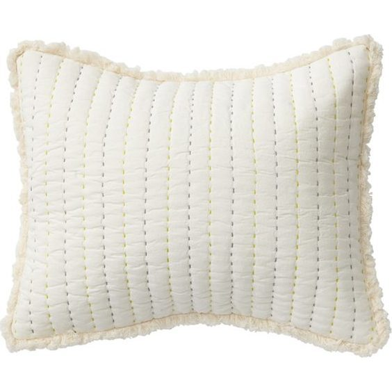 Rest My Head Quilted Pillow, Grey