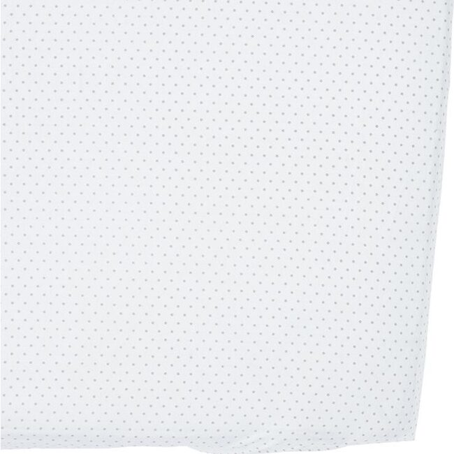 Pin Dot Organic Crib Sheet, Grey