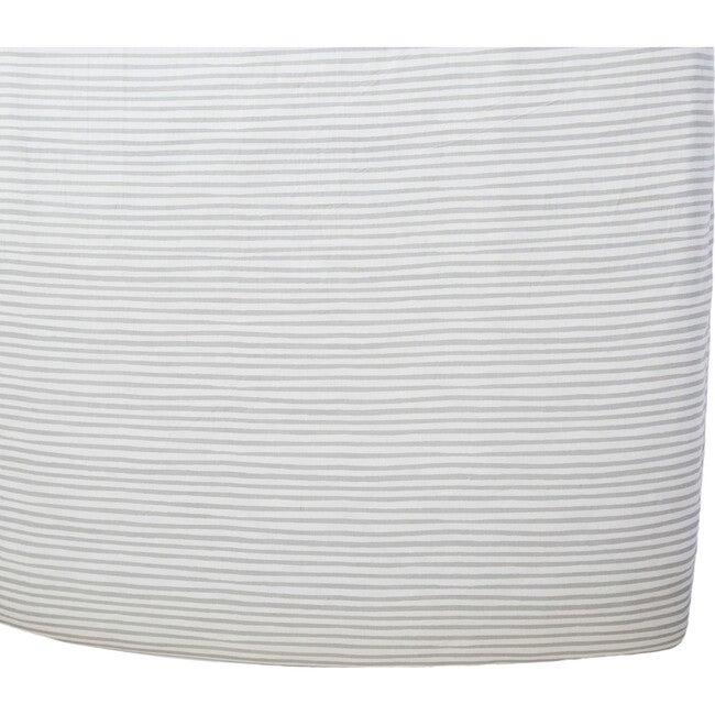 Stripes Away Organic Crib Sheet, Pebble