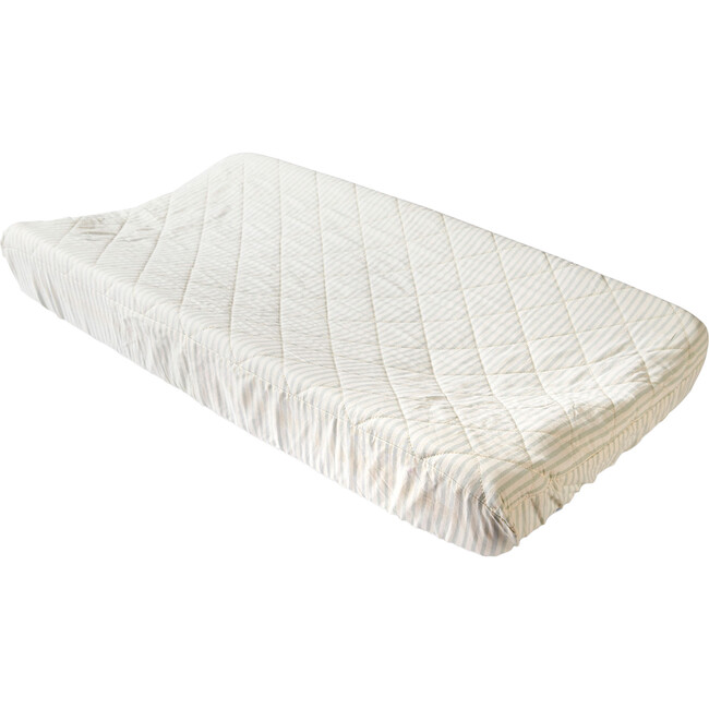 Stripes Away Changing Pad Cover, Sea