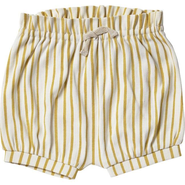 Organic Stripes Away Bloomers, Marigold