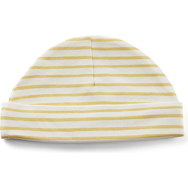Stripes Away Organic Cotton Beanie Hat, Marigold