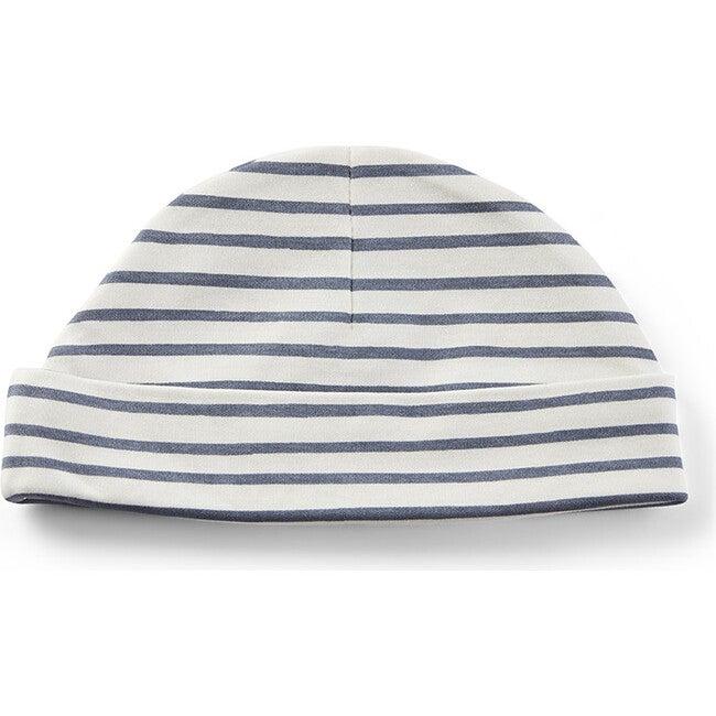 Stripes Away Organic Cotton Beanie Hat, Ink
