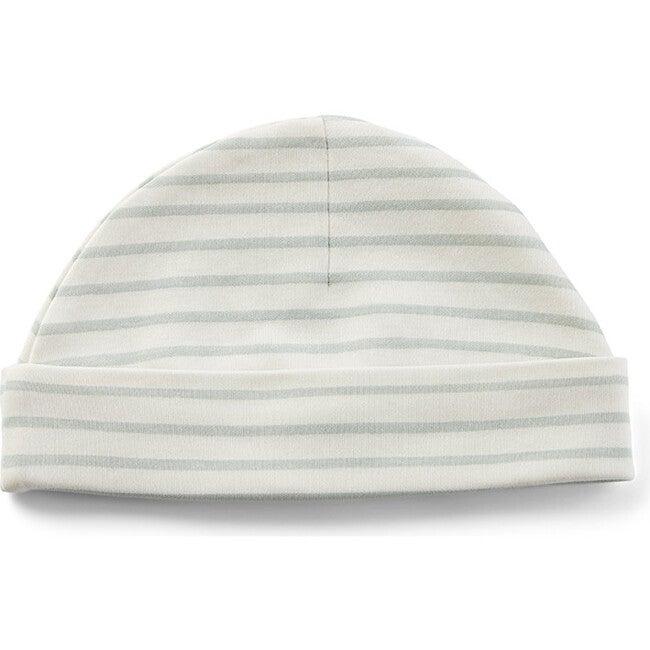 Stripes Away Organic Cotton Beanie Hat, Sea