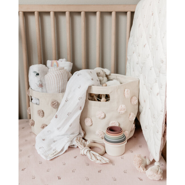 Hatchlings Fawn Crib Sheet, Pink