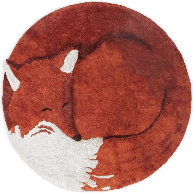 Tilky the Fox Tencel Rug, Rust/Red - Rugs - 1