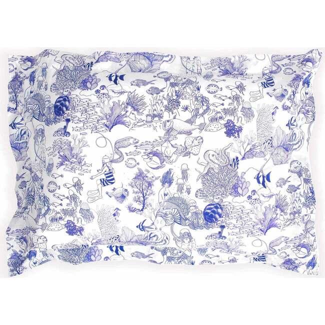 Toile de Mer Pillowcase, White