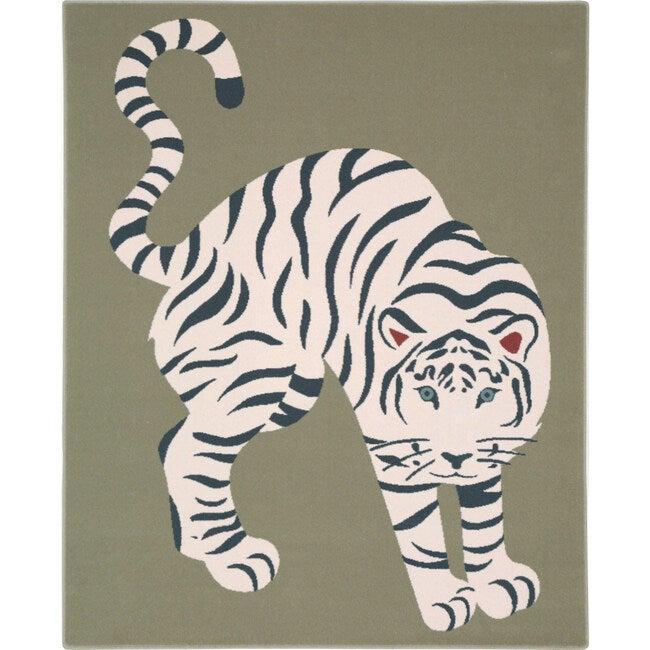 Tiger Wool Rug, Green - Rugs - 1
