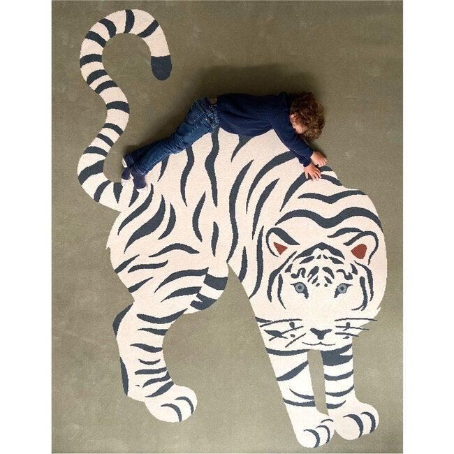 Tiger Wool Rug, Green