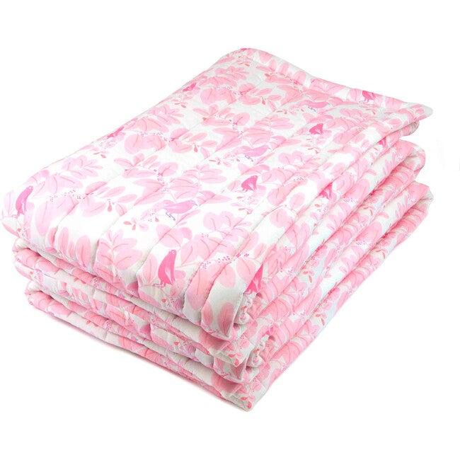 Songbirds Quilt, Pink