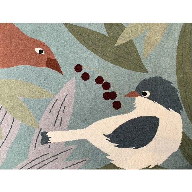 Olinka Birds Rug, Blue Multi