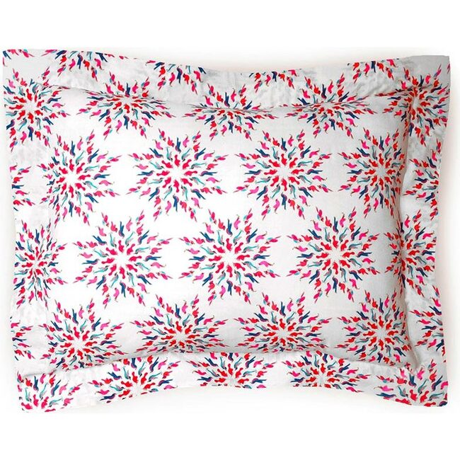 Mazurka Birds Pillowcase, Grenadine