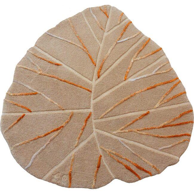 Leaf Wool Rug, Neutral - Rugs - 1