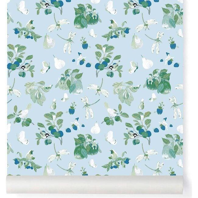 Garden Party Wallpaper, Sky Blue