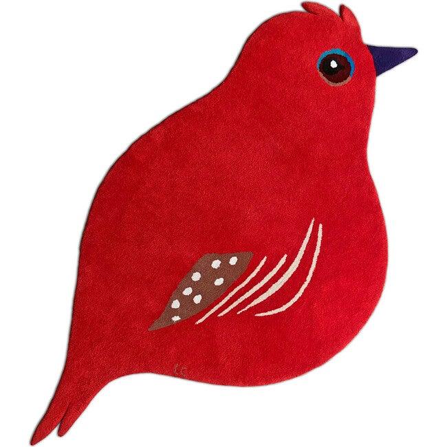 Cardinal Wool Rug, Red - Rugs - 1