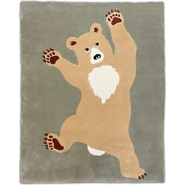 Bear Rug, Green/Beige