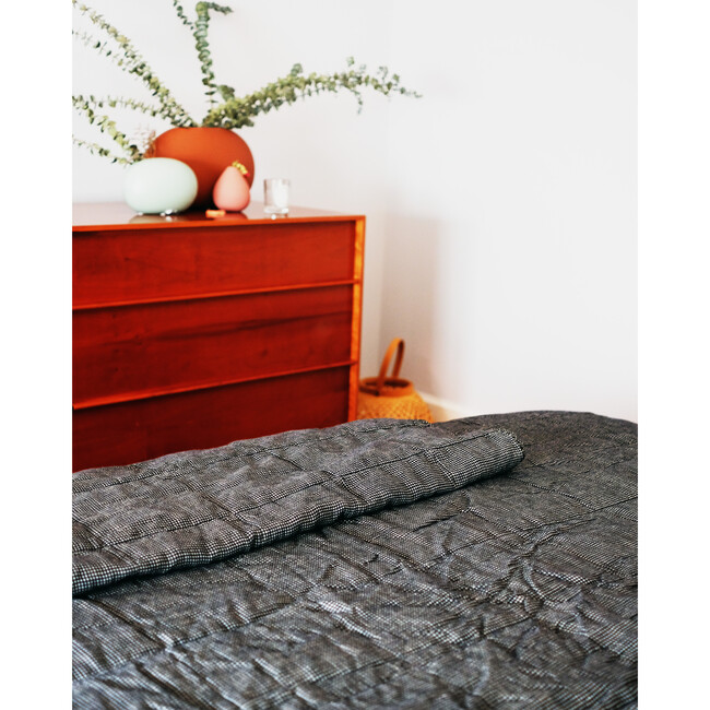 Quilted Bed Cover, Linen