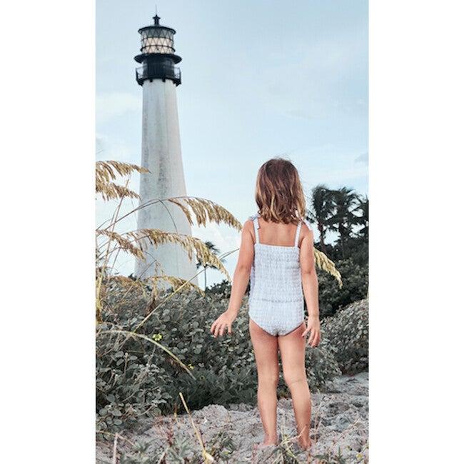 Marta Swimsuit, Blue Stripes