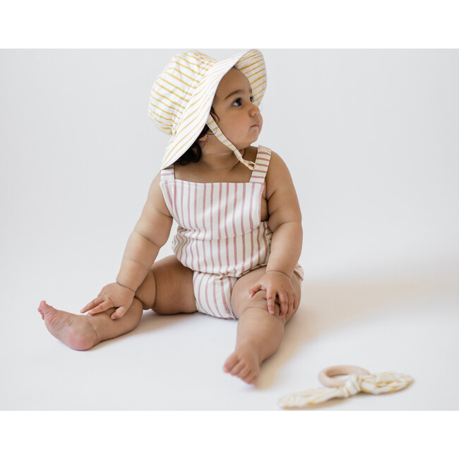 Criss-Cross Overall One-Piece, Pink