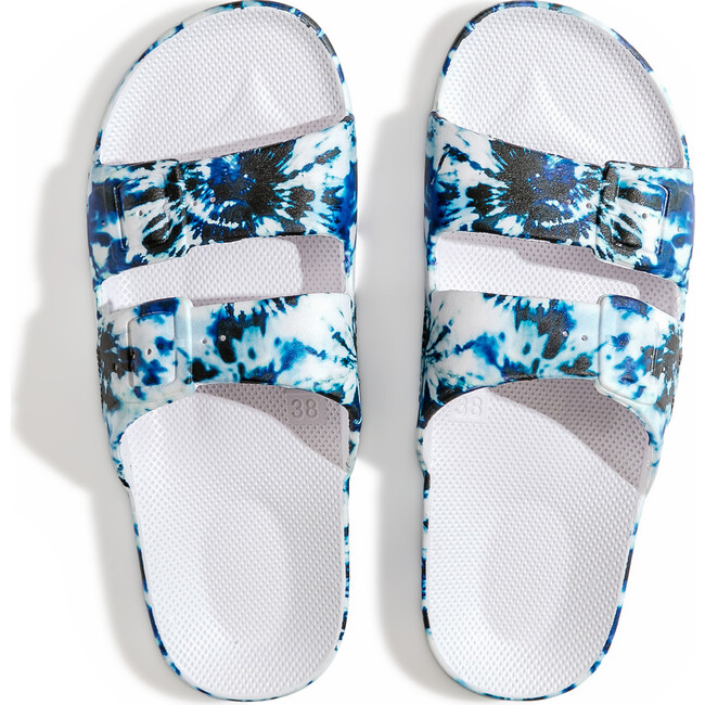 Moses Two Band Slide, Zeppelin White - Sandals - 1