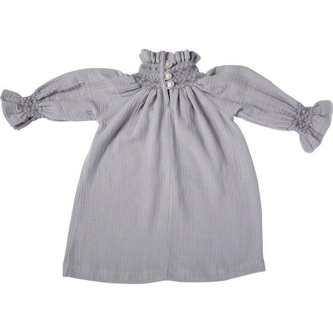 Rosa Smock Dress, Blue - Dresses - 1