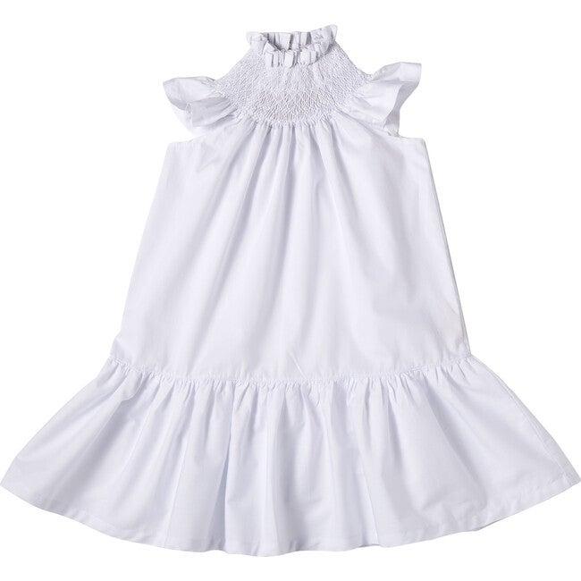 Amalia Smock Dress, White