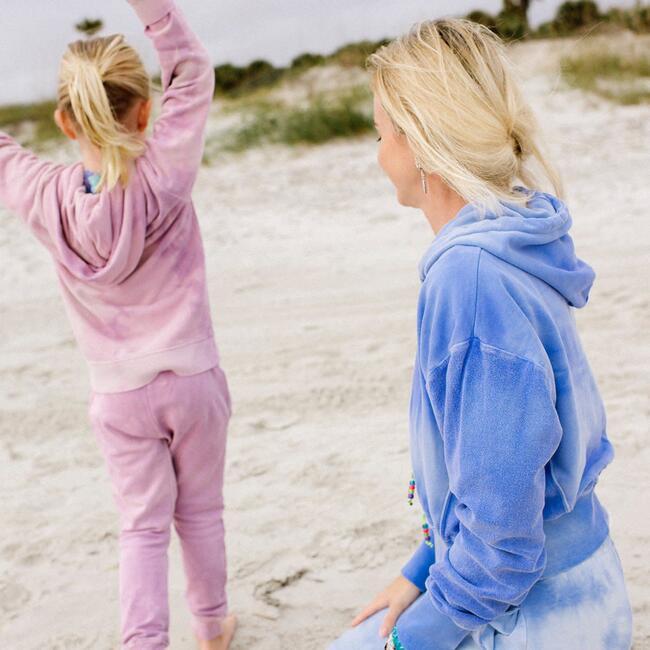 Kids Tie Dye Hoodie, Pink