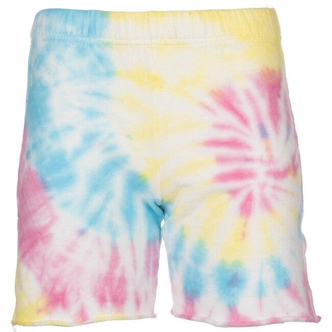 Women's Sweatshorts, Neon Tie Dye