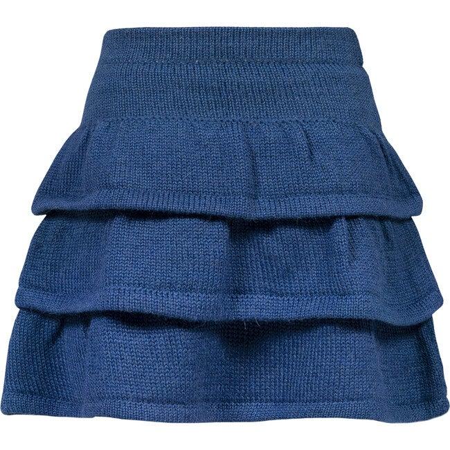 Sienna Baby Alpaca Skirt, Midnight Blue