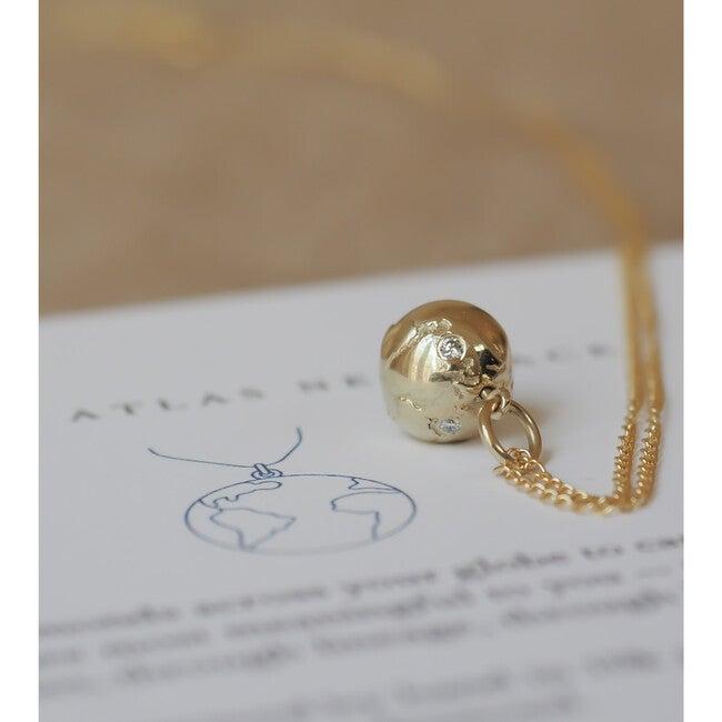 Mini Golden Atlas Necklace