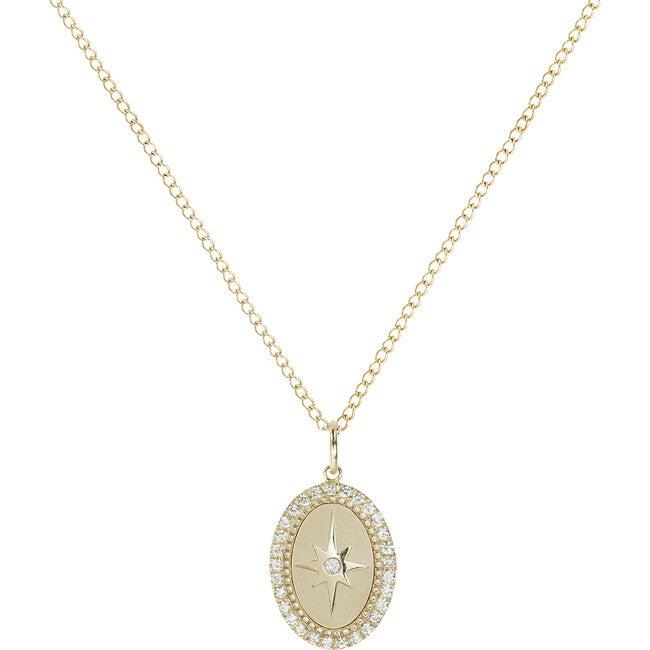 Pavé Diamond Halo Star Necklace