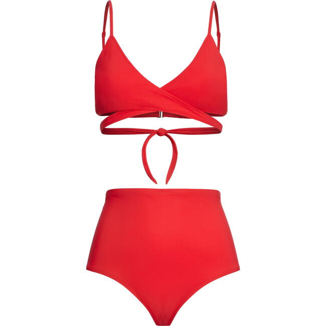 Women's Jojo Breastfeeding Bikini Top, Red
