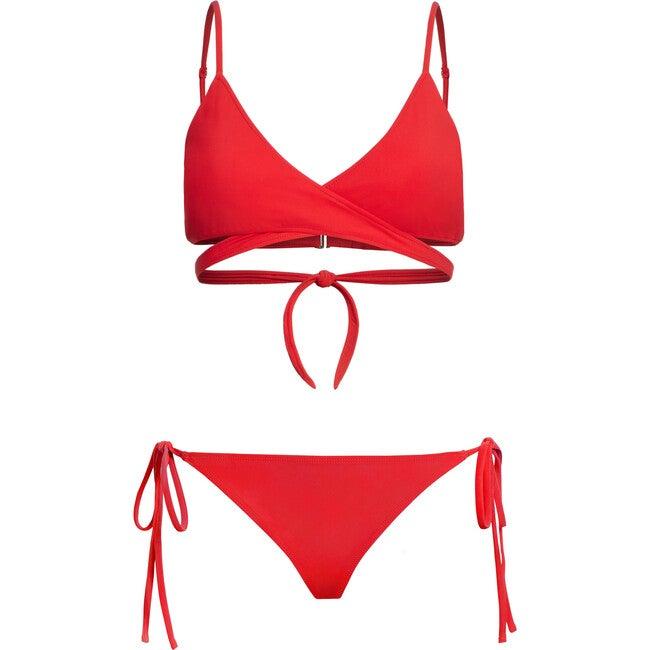 Women's James Bikini Bottom, Red