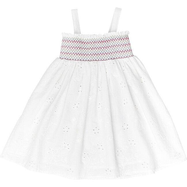 Rosie Dress, White Floral Eyelet
