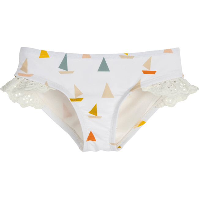 Bridget Bikini Bottom, Cream Boats