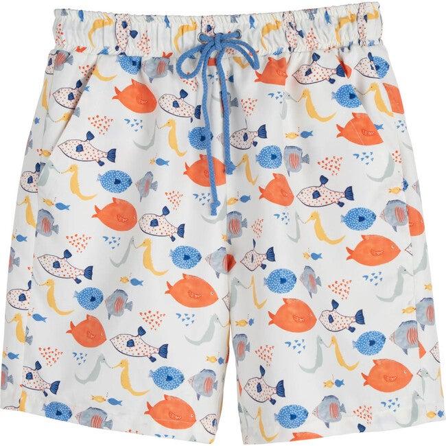 Christopher Men's Swim Trunk, Kissing Fish