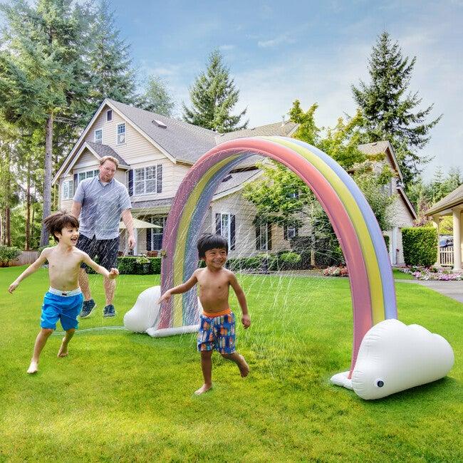 Water Fun Pastel Rainbow Inflatable Sprinkler