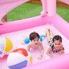 Water Fun Castle Inflatable Kiddie Pool with Pump, Pink - Pool Toys - 3