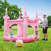 Water Fun Castle Inflatable Kiddie Pool with Pump, Pink - Pool Toys - 4