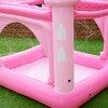 Water Fun Castle Inflatable Kiddie Pool with Pump, Pink - Pool Toys - 6