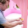 Water Fun Castle Inflatable Kiddie Pool with Pump, Pink - Pool Toys - 7