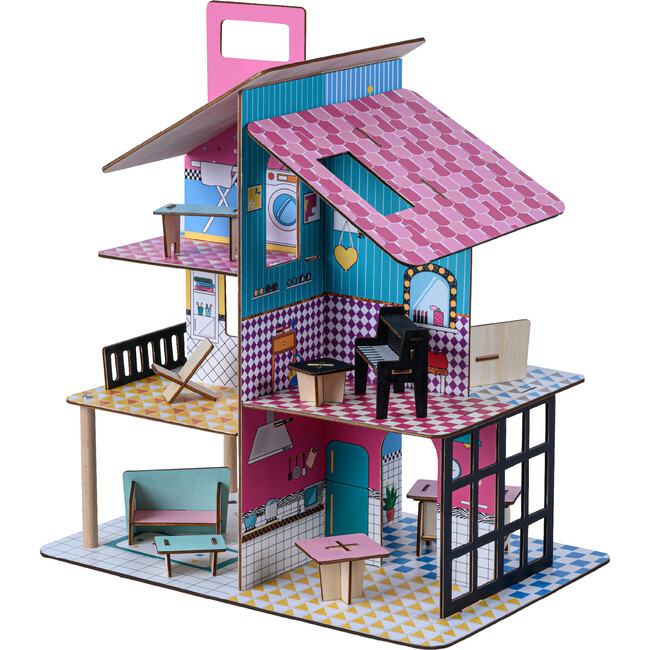 360 Pop Dollhouse with 12 Accessories
