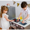 Little Chef Milano Classic Kids Kitchen Playset with 10 Accessories, Grey - Play Kitchens - 8