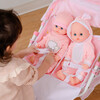 Stars Princess Deluxe Baby Doll Stroller, Pink/White - Dolls - 8