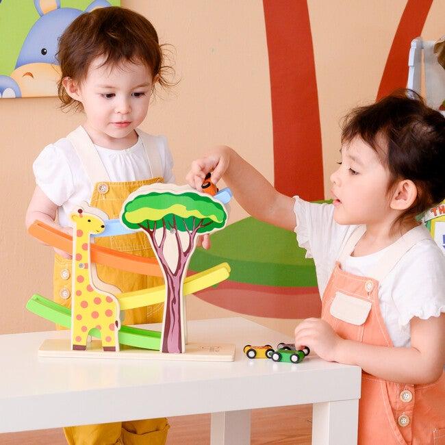 Preschool Play Lab Safari Animal Ramp Racer with Animal Print Cars