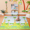 Safari Animal and Garden Insects Baby Crawling Play Mat, Blue/White - Developmental Toys - 4