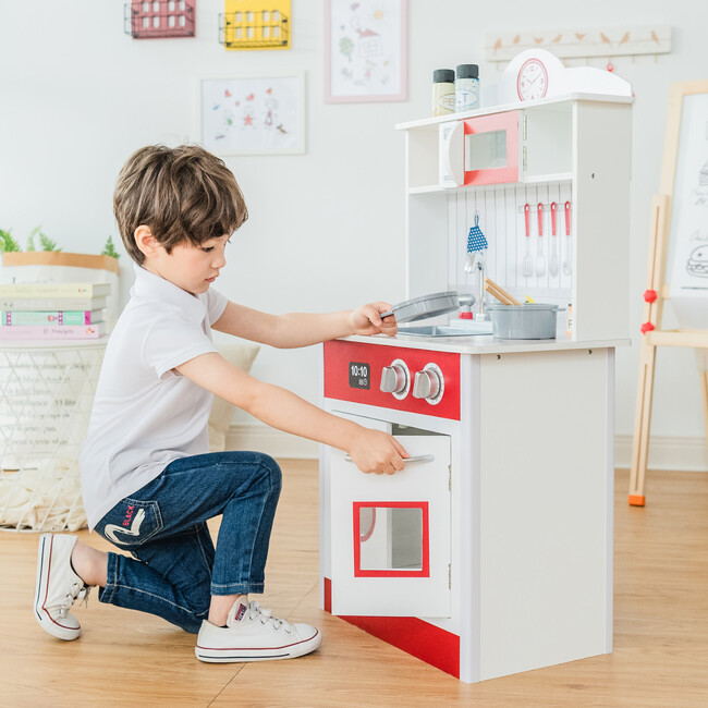 Little Chef Madrid Classic Play Kitchen, Red/White