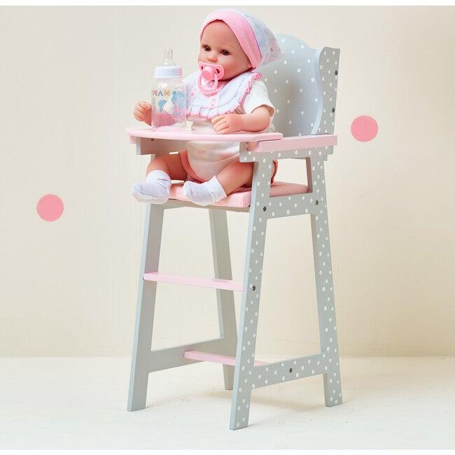 Polka Dots Princess Baby Doll High Chair, Grey