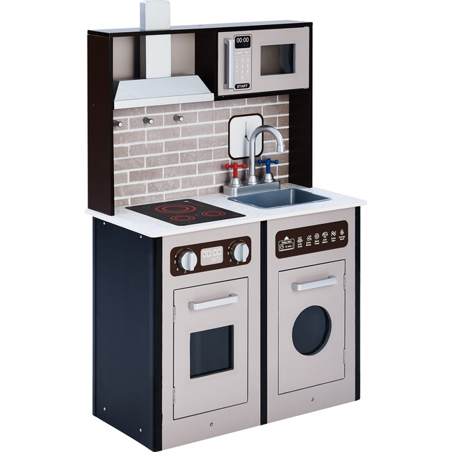 Little Chef Burgundy Classic Play Kitchen, Expresso/Black - Play Kitchens - 1