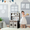 Little Chef Burgundy Classic Play Kitchen, Expresso/Black - Play Kitchens - 2